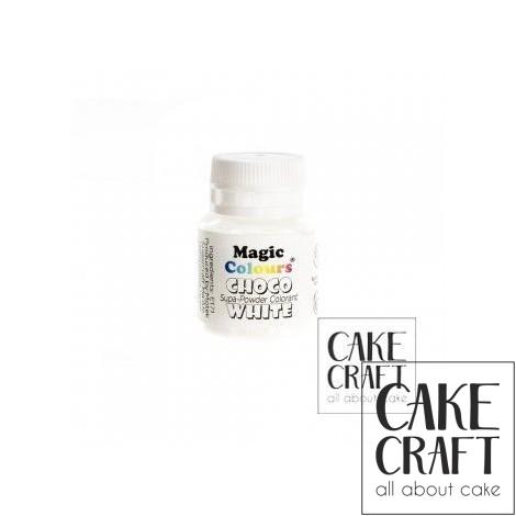 Βρώσιμα Χρώματα Σοκολάτας σε σκόνη της Magic Colours - Λευκό