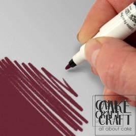 Διπλός Μαρκαδόρος Τροφίμων Rainbow Dust - Κόκκινο Βουργουνδί Rainbow Dust - (Food Pen Burgundy)