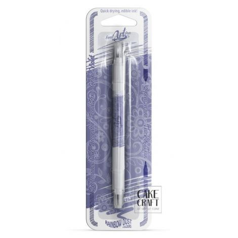 Διπλός Μαρκαδόρος Τροφίμων Rainbow Dust - Βιολετί Rainbow Dust - (Food Pen Grape Violet)