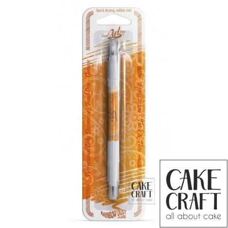 Διπλός Μαρκαδόρος Τροφίμων Rainbow Dust - Πορτοκαλί Rainbow Dust - (Food Pen Orange)