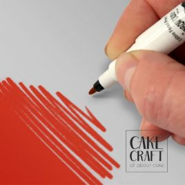 Διπλός Μαρκαδόρος Τροφίμων Rainbow Dust - Κόκκινο Rainbow Dust - (Food Pen Red)