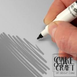 Διπλός Μαρκαδόρος Τροφίμων Rainbow Dust - Ασημογκρί Rainbow Dust - (Food Pen Silver Grey)