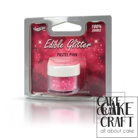 Βρώσιμο Γκλίτερ Rainbow Dust - Ροζ Παστέλ Rainbow Dust - (Glitter Pastel Pink)