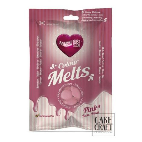 Candy Melts Ροζ 250γρ. της Rainbow Dust