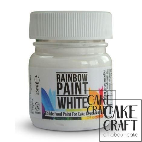 Λευκό Χρώμα Τροφίμων για ζωγραφική της Rainbow Dust 25ml