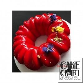 Γλασο Καθρέπτης φρούτων γεύση-χρώμα Φράουλα 1κ. Strawberry Mirror Glaze