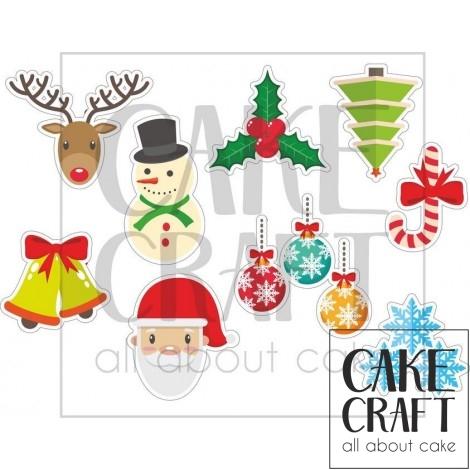 Φύλλο ζαχαρόπαστας Χριστούγεννα 1001