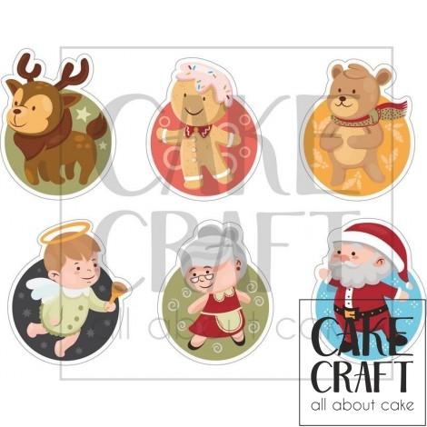Φύλλο ζαχαρόπαστας Χριστούγεννα 1011