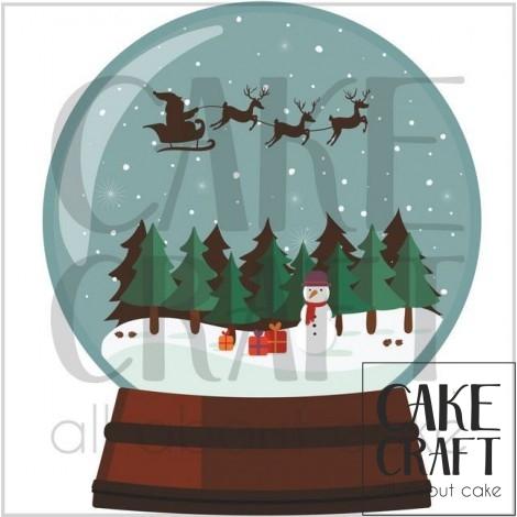 Φύλλο ζαχαρόπαστας Μπάλα Χριστούγεννων 1014