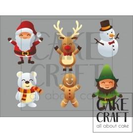 Φύλλο ζαχαρόπαστας Χριστούγεννα 1016