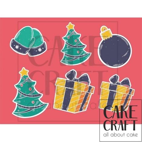 Φύλλο ζαχαρόπαστας Χριστούγεννα 1018
