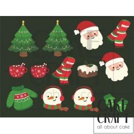Φύλλο ζαχαρόπαστας Χριστούγεννα 1019