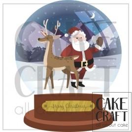 Φύλλο ζαχαρόπαστας Μπάλα Χριστούγεννων 1020