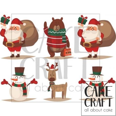Φύλλο ζαχαρόπαστας Χριστούγεννα 1027