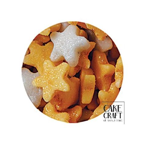 SugarCraft Μίνι Χρυσά - Ασημί Αστεράκια 60g