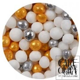 SugarCraft Κας-Κας Λευκό - Ασημί - Χρυσό 50g