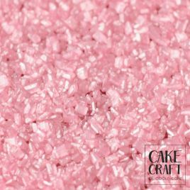 SugarCraft Κρυσταλλική Ζάχαρη Ροζ Μεταλλικό 100g