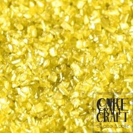 SugarCraft Κρυσταλλική Ζάχαρη Κίτρινο Μεταλλικό 50g