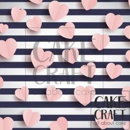 Φύλλο Καρδιές ριγέ 1041