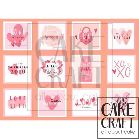 Φύλλο Valentine Τετράγωνα 1044