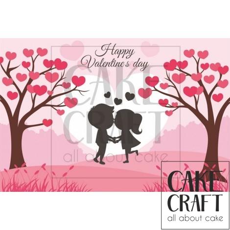 Φύλλο Valentine ζευγάρι 1045