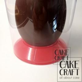 Βάση σοκολατένιου αυγού κόκκινη 15cm (300γρ,400γρ,500γρ)