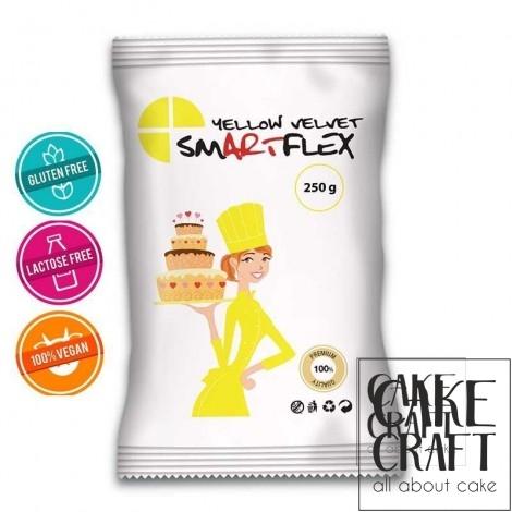 Ζαχαρόπαστα Smartflex velvet Κίτρινη 250 g