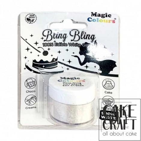 Βρώσιμο Γκλίτερ Λευκό Ασημί Magic Colours - (Glitter Snow White)