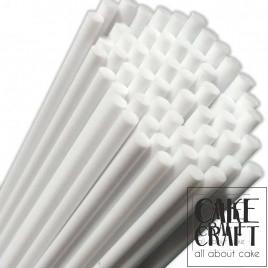 Λευκά Χάρτινα Sticks PME για Cake Pops & Γλυφιτζούρια 16εκ. 35τεμ