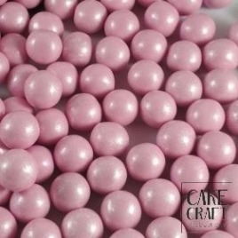 SugarCraft Choco Balls Πέρλες Μεταλλιζέ Ροζ 1εκ 90γρ