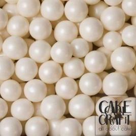 SugarCraft Choco Balls Πέρλες Μεταλλιζέ Λευκό 1εκ 90γρ