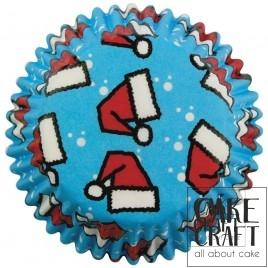 Καραμελόχαρτα για Μίνι Cupcakes Σκούφος του Άι Βασίλη - 100 Τεμ