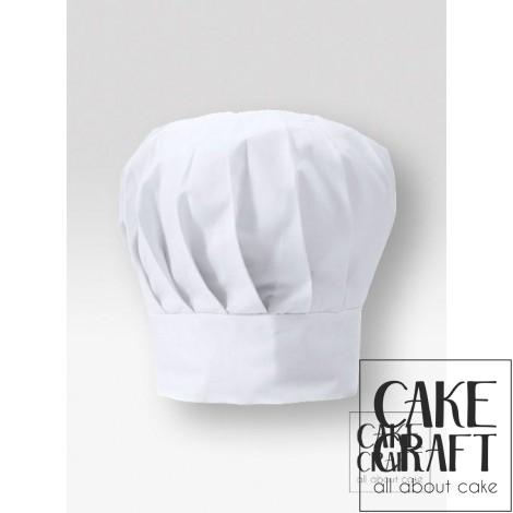 Σκούφος μάγειρα ψηλός Λευκός