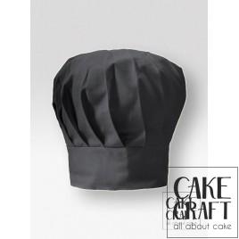Σκούφος μάγειρα ψηλός Μαύρος