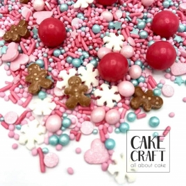 HAPPY SPRINKLES 'Candy World- Christmas' Edible Sprinkles 90g