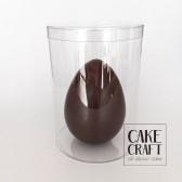 Σοκολατένιο αυγό γάλακτος γυμνό 300gr (17,5εκ) + Κουτί Διάφανο PVC 15x24cm