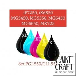 Μελάνια KopyForm Σετ 5 χρώματα (PGI-550 / CLI-551) (TK151-TK155)