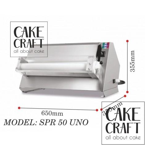 Μηχανή παραγωγής φύλλου ζαχαρόπαστας 45εκ