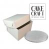 Δίσκος στρογγυλός Ασημένιος Πάχος 13mm. Διαμ.(14'')35,6εκ με κουτί 35,6εκ.