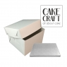 Δίσκος τετράγωνος Ασημένιος Πάχος 13mm. Διαμ.(14'')35,6εκ με κουτί 35,6εκ.