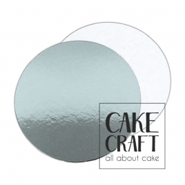 Λεπτός δίσκος τούρτας ασήμι / λευκός 1,5χιλ .Διαμ.(4'') 10,16εκ