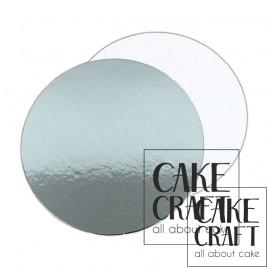 Λεπτός δίσκος τούρτας ασήμι / λευκός 1,5χιλ .Διαμ.(6'') 15,24εκ