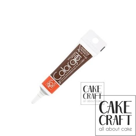 Χρώμα Πάστας της Modecor - Color gel Καφέ 20g