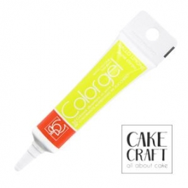 Χρώμα Πάστας της Modecor - Color gel Κίτρινο 20g