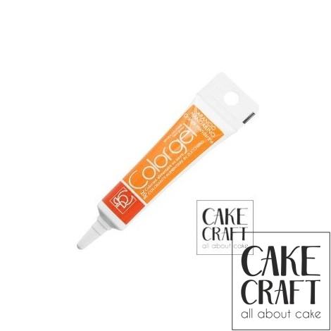 Χρώμα Πάστας της Modecor - Color gel Πορτοκαλί 20g