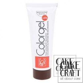 Χρώμα Πάστας της Modecor - Color gel Καφέ 100g
