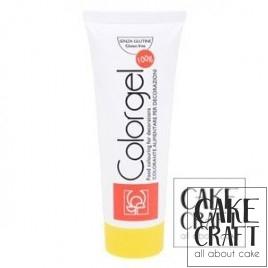 Χρώμα Πάστας της Modecor - Color gel Κίτρινο 100g