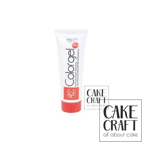 Χρώμα Πάστας της Modecor - Color gel Κόκκινο 100g