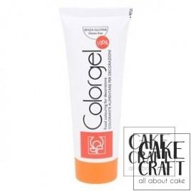 Χρώμα Πάστας της Modecor - Color gel Πορτοκαλί 100g
