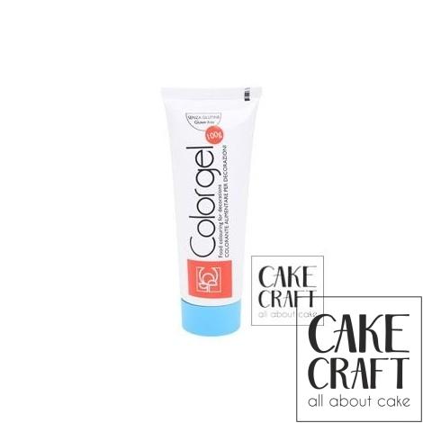 Χρώμα Πάστας της Modecor - Color gel Γαλάζιο 100g
